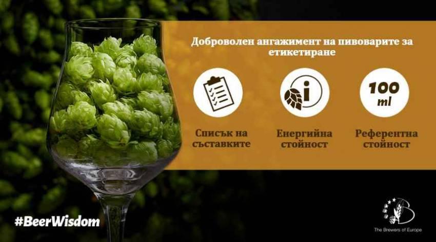 Доброволното етикетиране на бирите в ЕС надхвърли очакванията